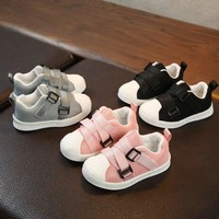 Boys Girls Sneakers Children Soft Bottom Size 21-30 Baby Shoes Toddler Flat Shoes Fashion Kids Breathable Sport Shoes