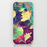 GALAXY FLOWERS - for iphone iPhone & iPod Case by Simone Morana Cyla
