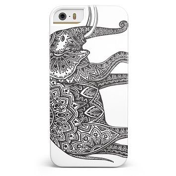 Black and White Aztec Ethnic Elephant iPhone 5/5s or SE INK-Fuzed Case