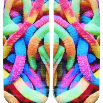 Gummy Worms Ankle Socks