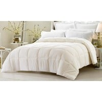 SUPER OVERSIZED-HIGH QUALITY-DOWN ALTERNATIVE COMFORTER- FITS PILLOW TOP BEDS - IVORY