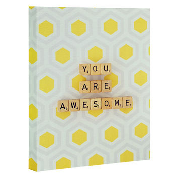 Happee Monkee You Are Awesome Art Canvas