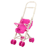 DIY Assemble Baby Carriage Stroller Trolley Doll Furniture Happy Family For Barbie Dolls Accessories For Doll House Decoration