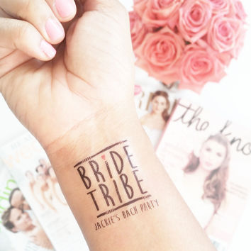 Temp Tattoo - Bride Tribe