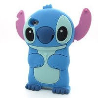 Disney 3D Cute Soft Silicone Cover Cases for Ipod Touch 4th generation (Stitch & Lilo Style -08)