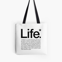 Life.* Available for a limited time only. White