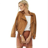 Gina Faux Suede Jacket