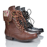 Surprise01 Foldable Convertible Military Combat Boots Women Shoe