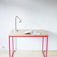 "Office desk, desk, table , Industrial series ""Industrial Pink"""