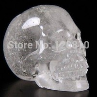 Skull Skulls Halloween Fall SHUN QUARTZ ROCK CRYSTAL Carved Crystal , Realistic, Crystal Healing Calavera