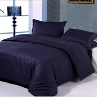 100% Cotton Damask Stripe bedding sets(duvet cover bedding sheet pillowcase) twin full queen king Hotel Solid bedclothes-in Bedding Sets from Home & Garden on Aliexpress.com | Alibaba Group