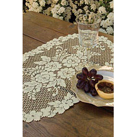 Heritage Lace White Victorian Rose 13 x 24  Doily