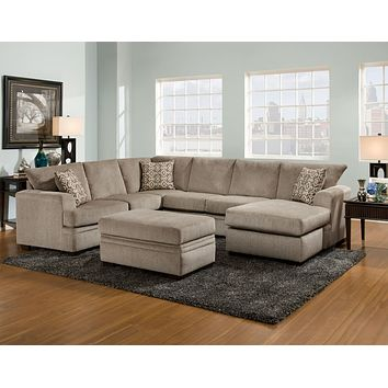 6800 Cornell Pewter 2 Piece Sectional