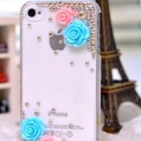 2013 Hotsale!crystal Apple Iphone5c Case Style Pretty Flower Iphone 5c Case to World