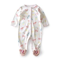 Unicorn Pattern Baby Onesuit with Unicorn Feet