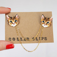 Collar Clips: Tabby Cats