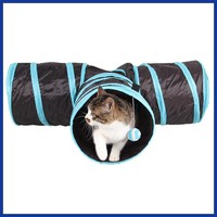 Foldable 3 Holes Pet Cat Tunnel Toys Indoor Outdoor Pet Cats Training Toy Kitten Rabbit Funny Play Tunnel House Toys
