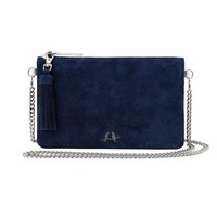 Navy Suede Convertible Clutch by Chloe + Isabel