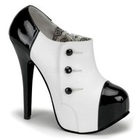 TEEZE-20 Black White 3/4 Ankle Boot
