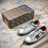 GGDB Golden Goose Uomo Donna G36D121.S8  White Orange Fashion Shoes - Best Online Sale