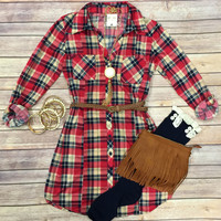 You Plaid me at Hello Belted Tunic Dress