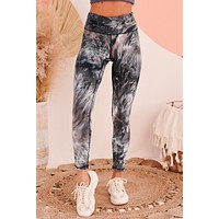 Space Out Tie-Dye Leggings (Navy/White)