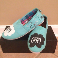 Hand Painted TFIOS Canvas Shoes Size 7
