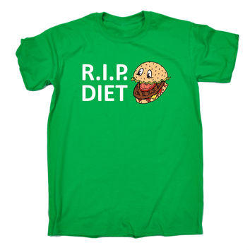 123t USA Men's RIP Diet ... Burger Design Funny T-Shirt