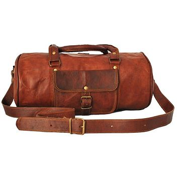 Traveling Leather LEATHER GYM DUFFEL BAG