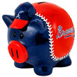Forever Collectibles Large Thematic Piggy Bank - Atlanta Braves