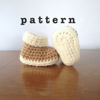 PATTERN Crochet Newborn Booties - Crochet Baby Clothes - Newborn Crochet Patterns - Baby Booties Pattern - Crochet Shoes Pattern