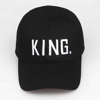 Sports Hat Cap trendy  JTVOVO Fashion Couple Baseball Cap Embroidery KING QUEEN Baseball Hat Men Snapback Caps Women Adjustable Women s KO_16_1