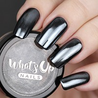 Whats Up Nails - Black Chrome Powder (Discontinued)