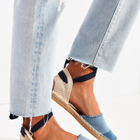 Soludos Denim Patchwork Classic Espadrille Sandal | Urban Outfitters