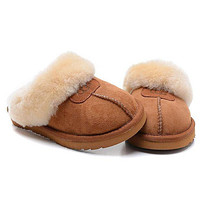 Tagre UGG Fashion Women Casual Wool Slipper Shoes brown