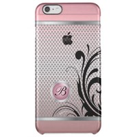 Monogram Pink Tourmaline Silver Mesh Uncommon Clearly™ Deflector iPhone 6 Plus Case