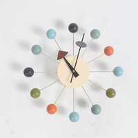 2016 Popular designer beautiful modern luxury home decorative diy wooden balls wall clocks