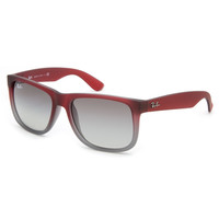 Ray-Ban Justin Sunglasses Rubber Red/Grey Gradient One Size For Men 20394430001