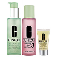 CLINIQUE 3-Step Skin Care System For Skin Types 3, 4 Combination Oily to Oily Skins (3-Step Skin Care System For Skin Types 3, 4)