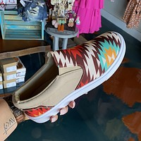 Sunset Aztec slip ons