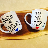 You're the Bryant to my Rizzo-Chicago Cubs-Cubs-World Series Champs-Coffee Mugs-Set of mugs-Bff gift-Christmas Gift-Mugs-Cups-Hand painted