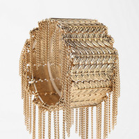 Fringed Leaves Stretch Bracelet - Urban Outfitters