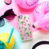 Cute iPhone 6s & 6s Plus Case (Flamingo Palm Tree Print Pattern) by Casetify