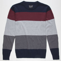 Retrofit Saul Mens Sweater Navy  In Sizes