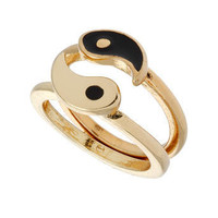 Black Ying Yang Ring - New In - Miss Selfridge US