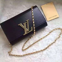 LV Louis Vuitton LEATHER CHAIN HAND BAG SHOULDER BAG