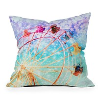 Lisa Argyropoulos Galaxy Wheel Throw Pillow