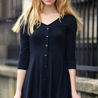 Cupshe Elegant Solid Color Button-Down Dress