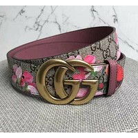 Print Floral Belt Flower Belt Women Men Belt