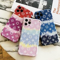 Louis Vuitton LV Macaron Contrast Color Series iPhone Protective Case iPhone11promax Wave Silicone Soft Case iPhone7 iPhone8puls Men and Women iPhone12 Shatter-resistant Phone Case